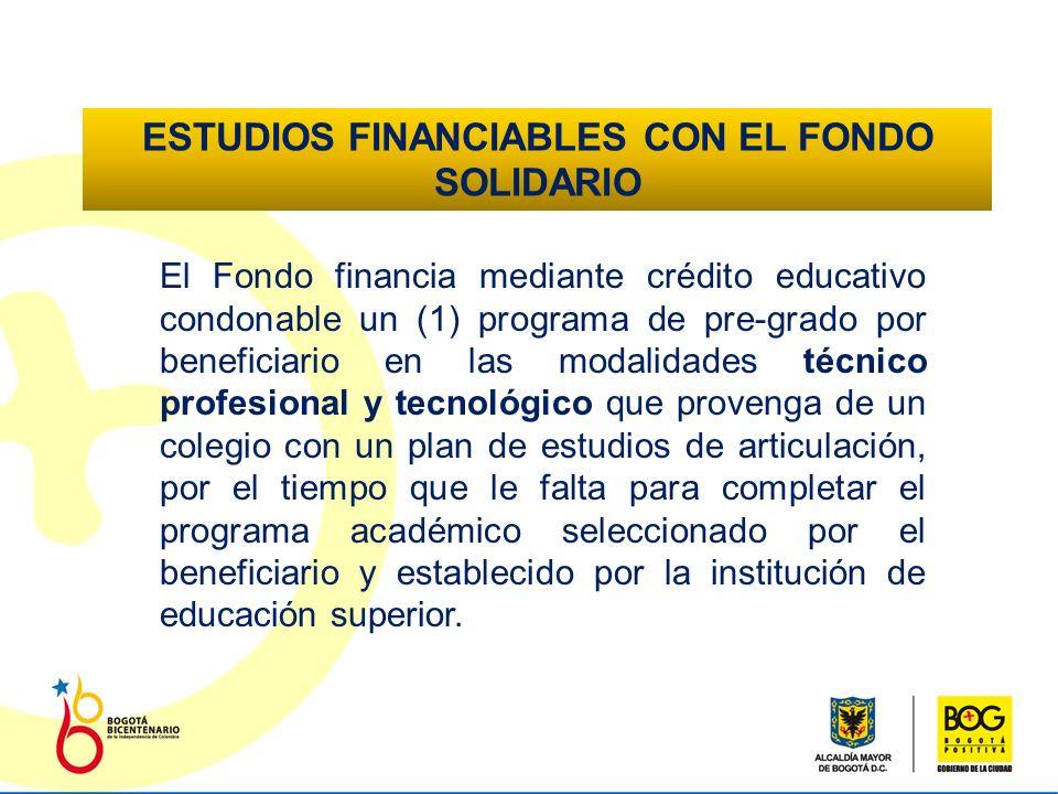 ¿QUÉ FINANCIA EL FONDO SOLIDARIO.