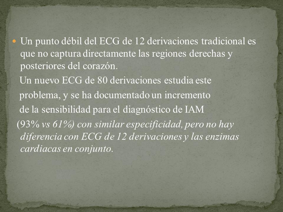 Un punto débil del ECG de 12 derivaciones tradicional es que no captura directamente las regiones derechas y posteriores del corazón. Un nuevo ECG de