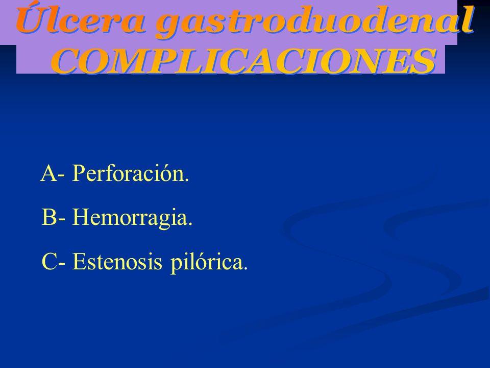 PERFORACION: Cuadro Clínico.