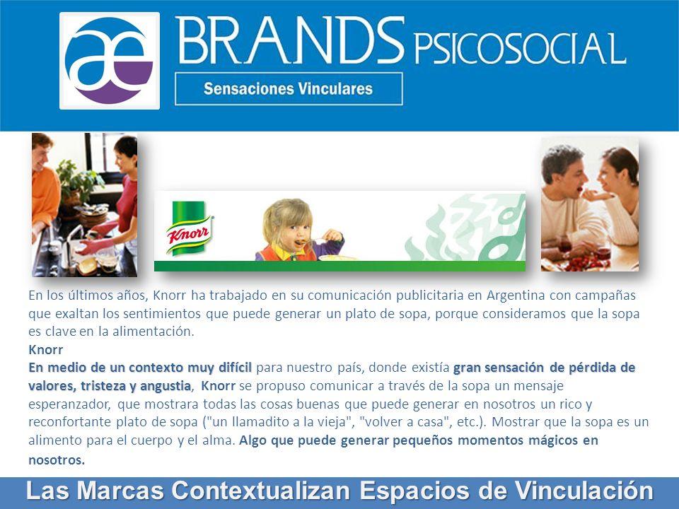 En los últimos años, Knorr ha trabajado en su comunicación publicitaria en Argentina con campañas que exaltan los sentimientos que puede generar un pl