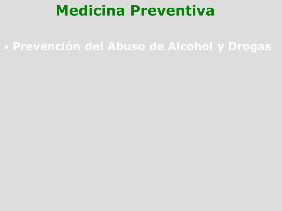 Prevención del Abuso de Alcohol y Drogas Medicina Preventiva