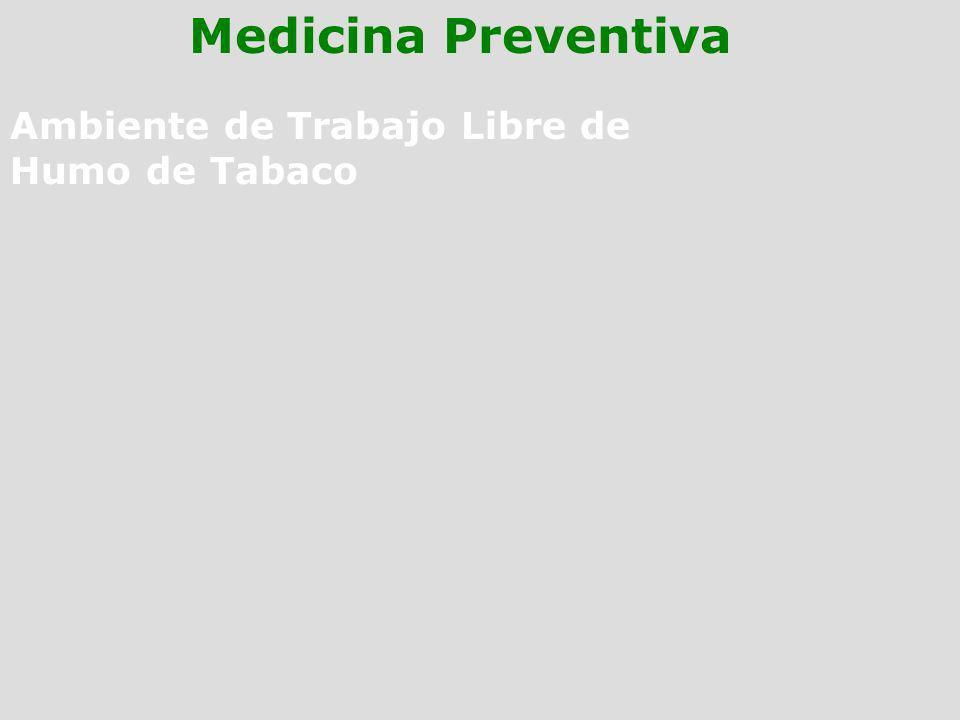 Ambiente de Trabajo Libre de Humo de Tabaco Medicina Preventiva