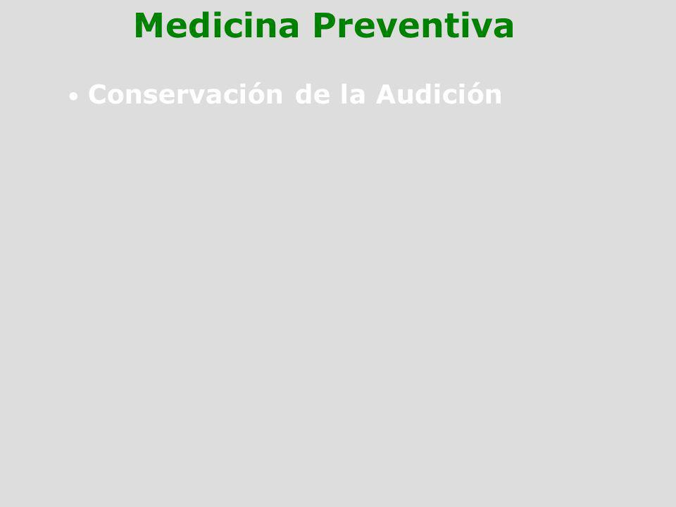 Conservación de la Audición Medicina Preventiva
