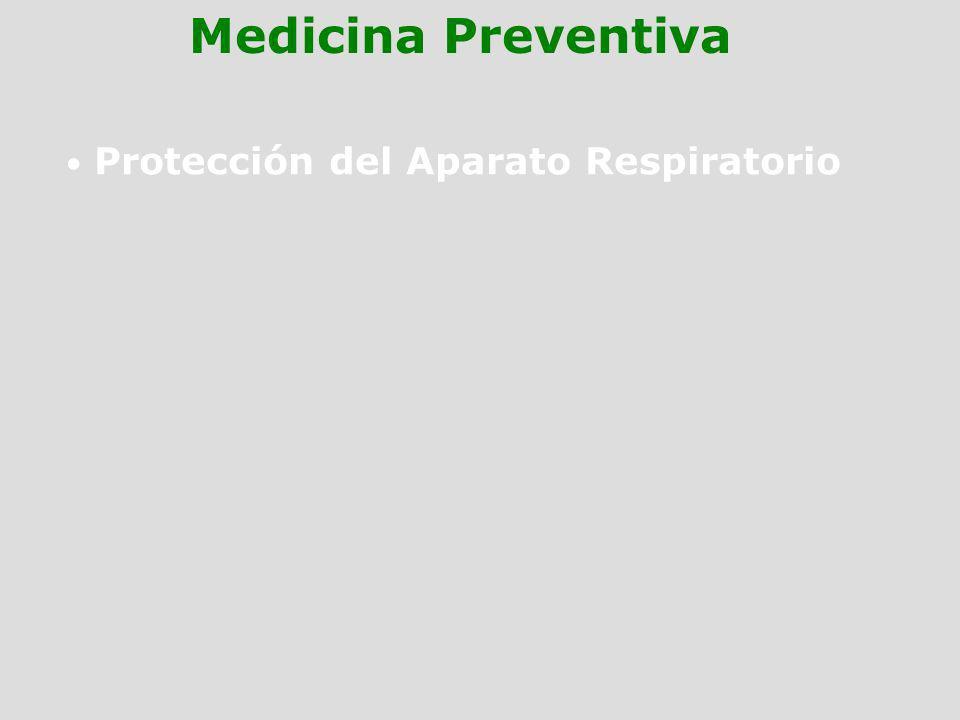 Protección del Aparato Respiratorio Medicina Preventiva