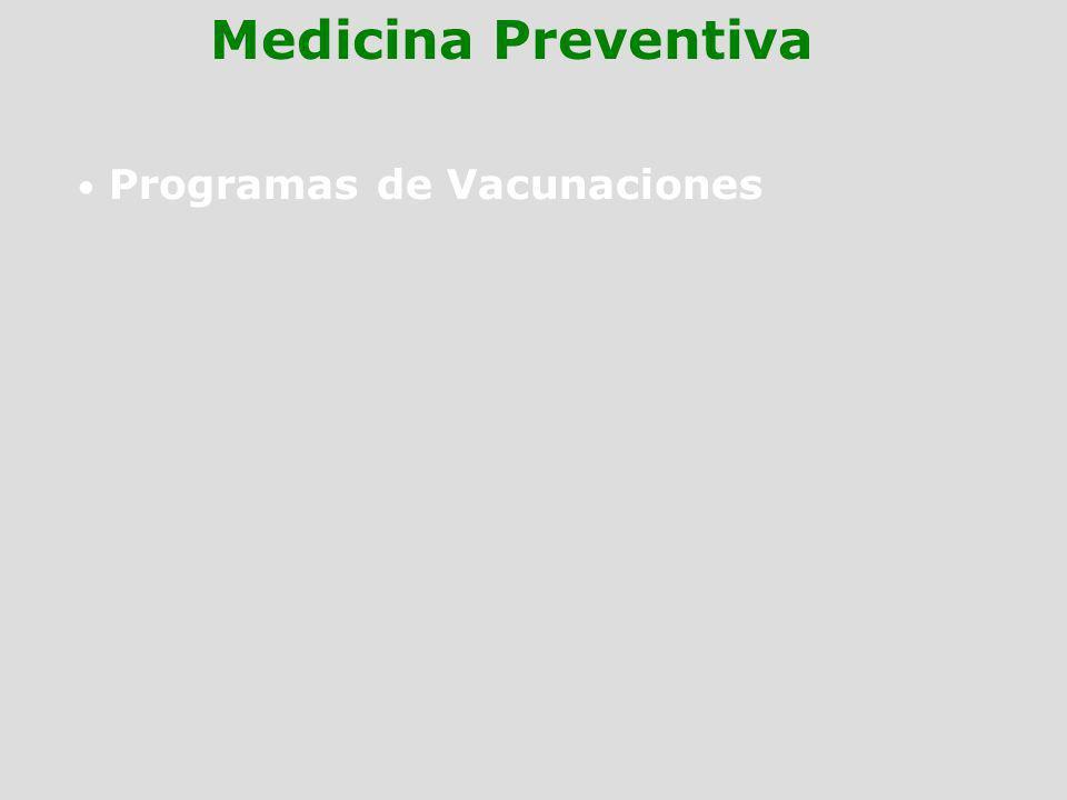 Programas de Vacunaciones Medicina Preventiva