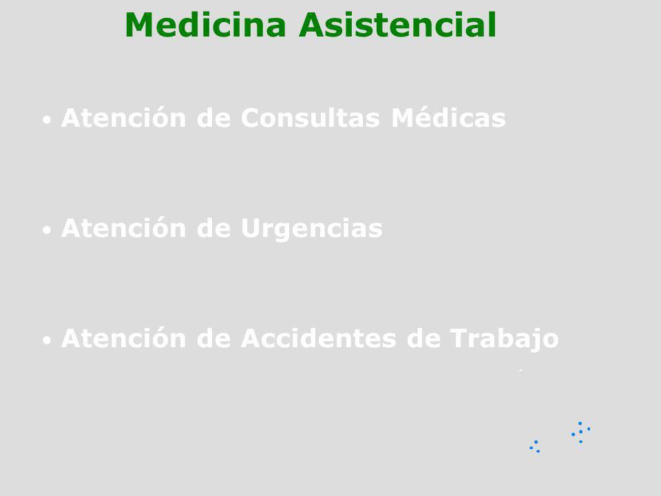 Atención de Consultas Médicas Atención de Urgencias Atención de Accidentes de Trabajo Medicina Asistencial