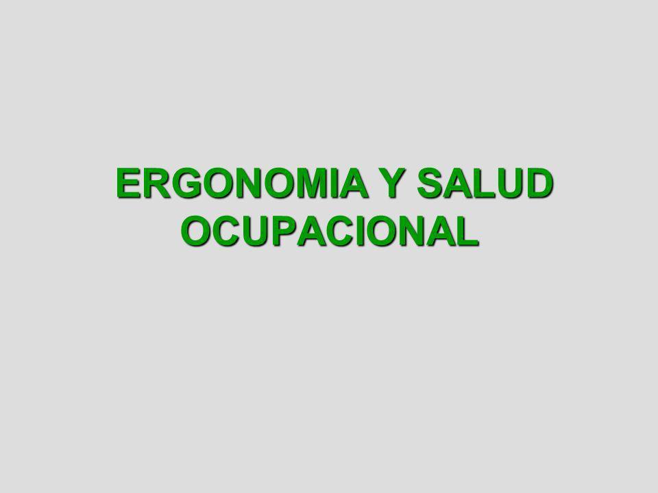 ERGONOMIA Y SALUD OCUPACIONAL