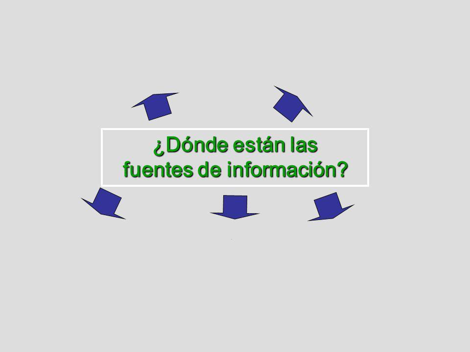 ¿Dónde están las fuentes de información?