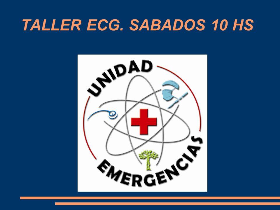 TALLER ECG. SABADOS 10 HS
