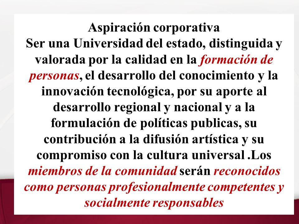 Plan Estratégico Aspiración Corporativa 2010 A.Generar valor Distintivo ….