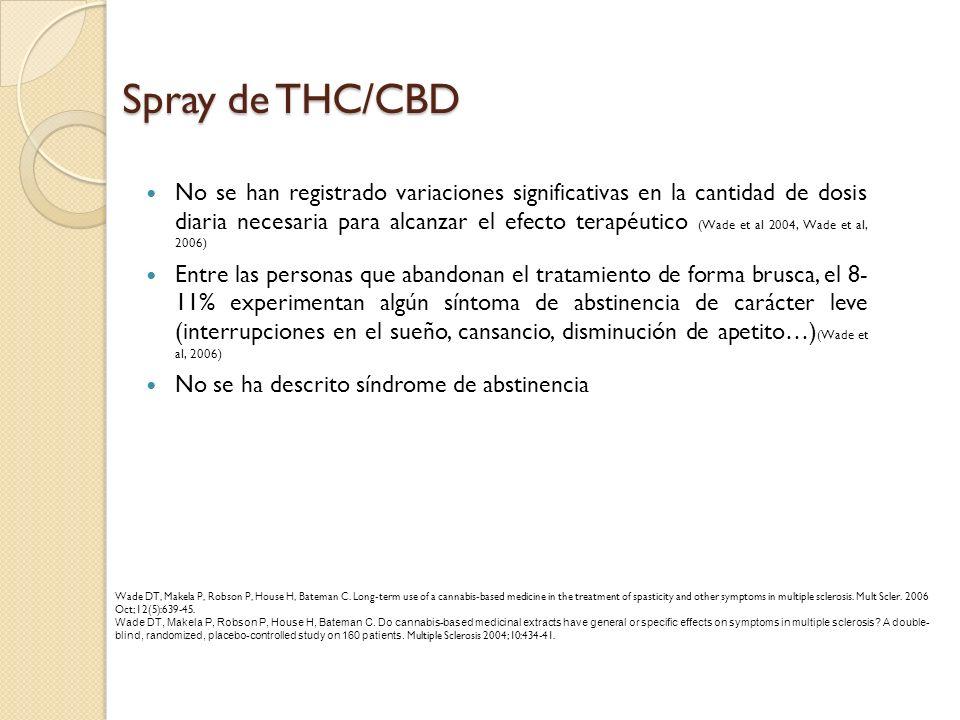 No se han registrado variaciones significativas en la cantidad de dosis diaria necesaria para alcanzar el efecto terapéutico (Wade et al 2004, Wade et