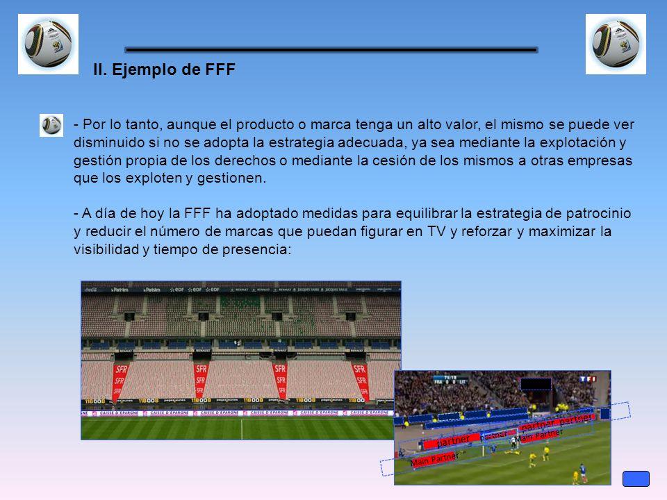 II. Ejemplo de FFF - Por lo tanto, aunque el producto o marca tenga un alto valor, el mismo se puede ver disminuido si no se adopta la estrategia adec