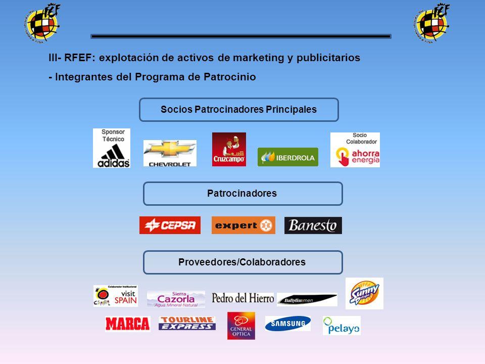 - Integrantes del Programa de Patrocinio Socios Patrocinadores Principales Patrocinadores Proveedores/Colaboradores