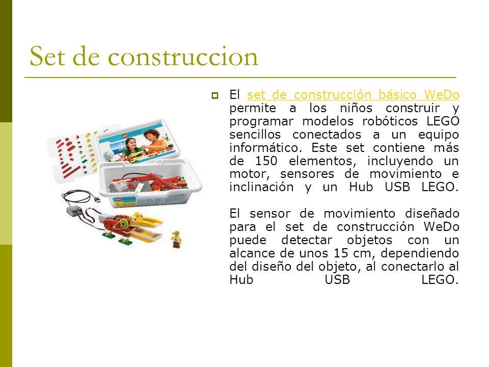 Set de construccion El set de construcción básico WeDo permite a los niños construir y programar modelos robóticos LEGO sencillos conectados a un equi