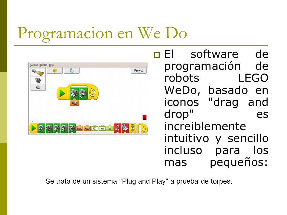 Programacion en We Do El software de programación de robots LEGO WeDo, basado en iconos