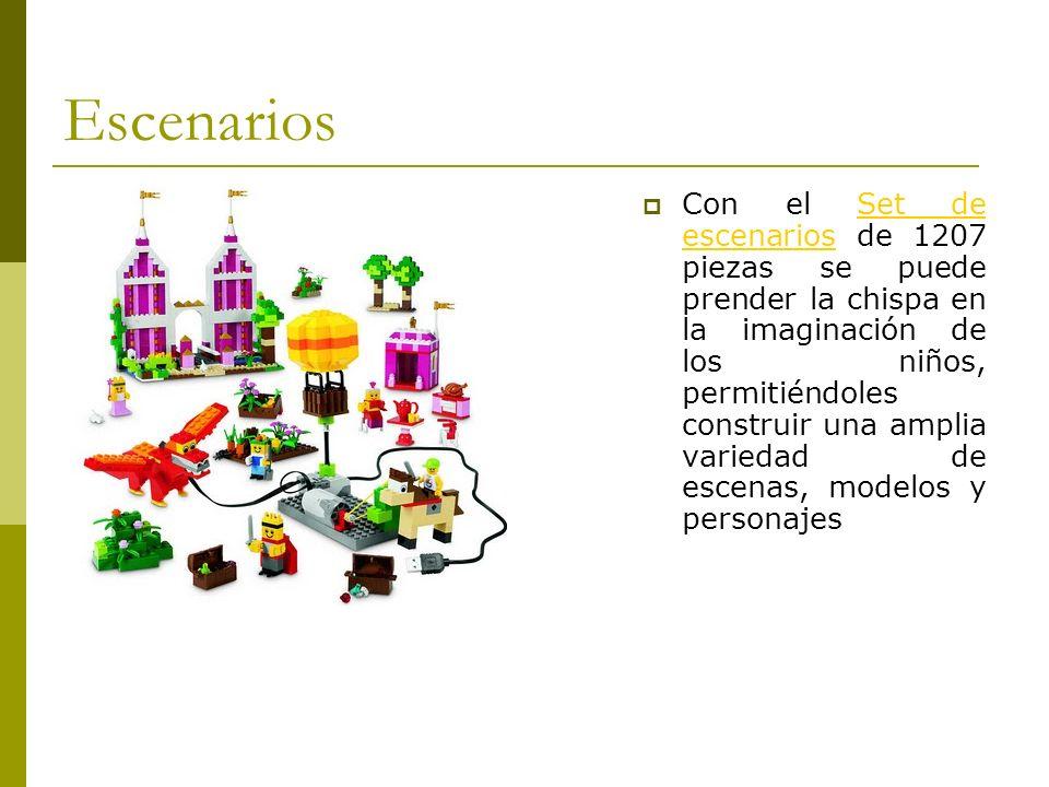 Escenarios Con el Set de escenarios de 1207 piezas se puede prender la chispa en la imaginación de los niños, permitiéndoles construir una amplia vari