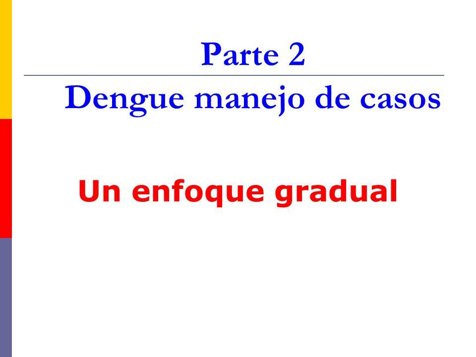 Parte 2 Dengue manejo de casos Un enfoque gradual
