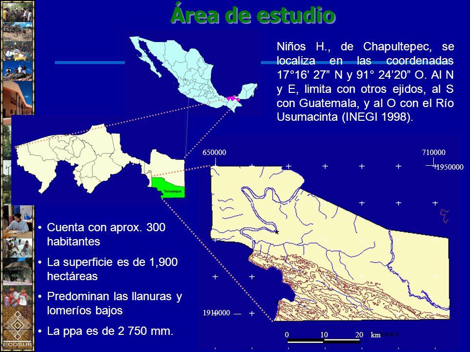 Niños H., de Chapultepec, se localiza en las coordenadas 17°16 27 N y 91° 2420 O.