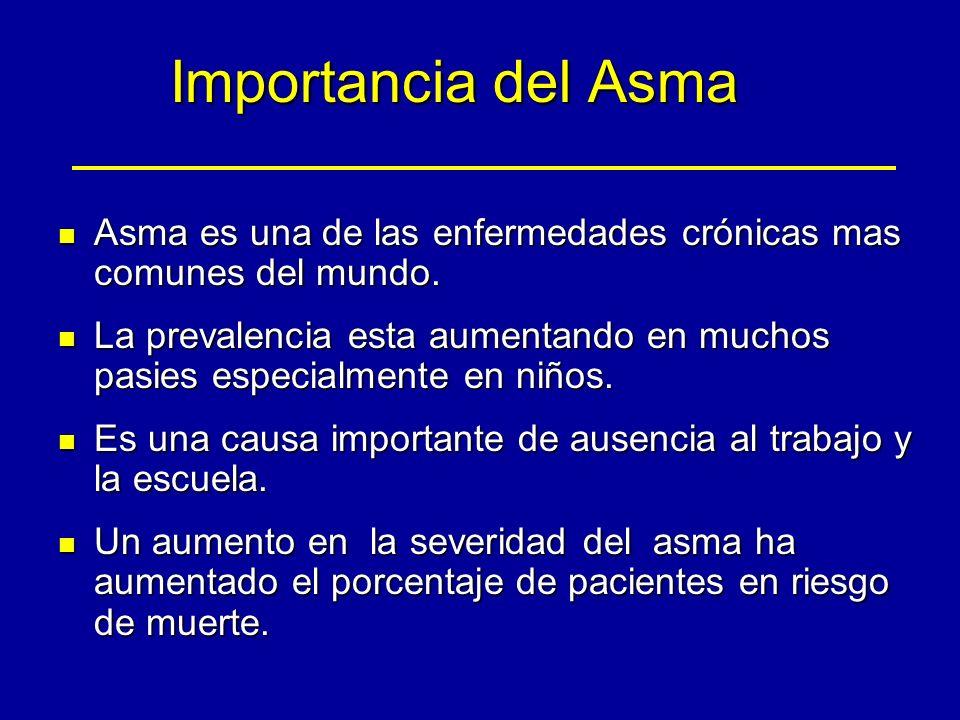 Importancia del Asma Asma es una de las enfermedades crónicas mas comunes del mundo.