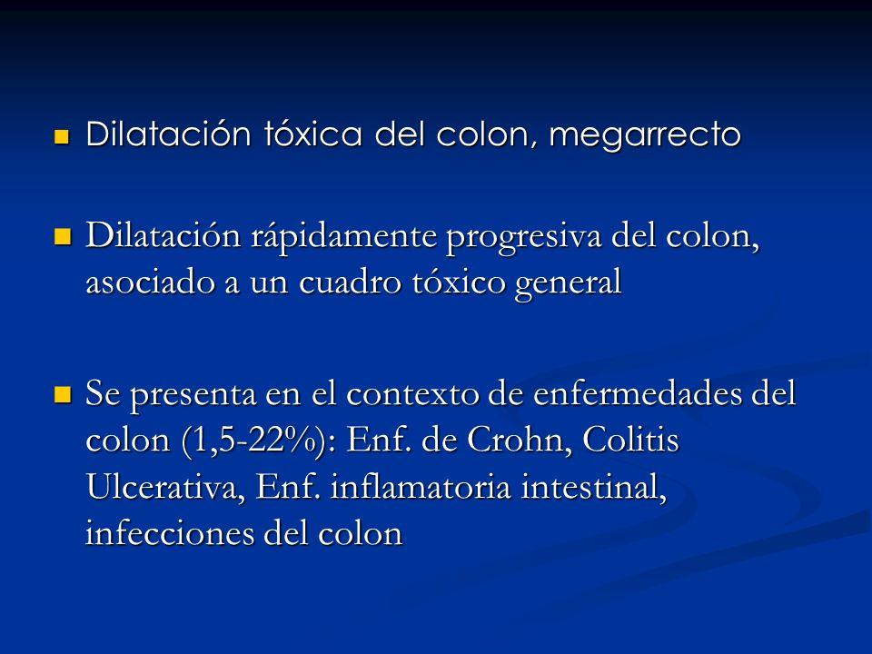 Etiopatogenia Mediadores de la inflamación (citoquinas, metabolitos reactivos del oxígeno, eicosanoides y neurotransmisores) en la mucosa inflamada del colon + productos del metabolismo bacteriano Incremento de la síntesis de Oxido Nitroso y activa las terminales nerviosas de fibras mucosas aferentes.