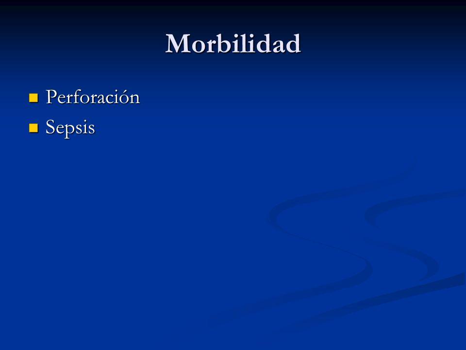 Morbilidad Perforación Perforación Sepsis Sepsis