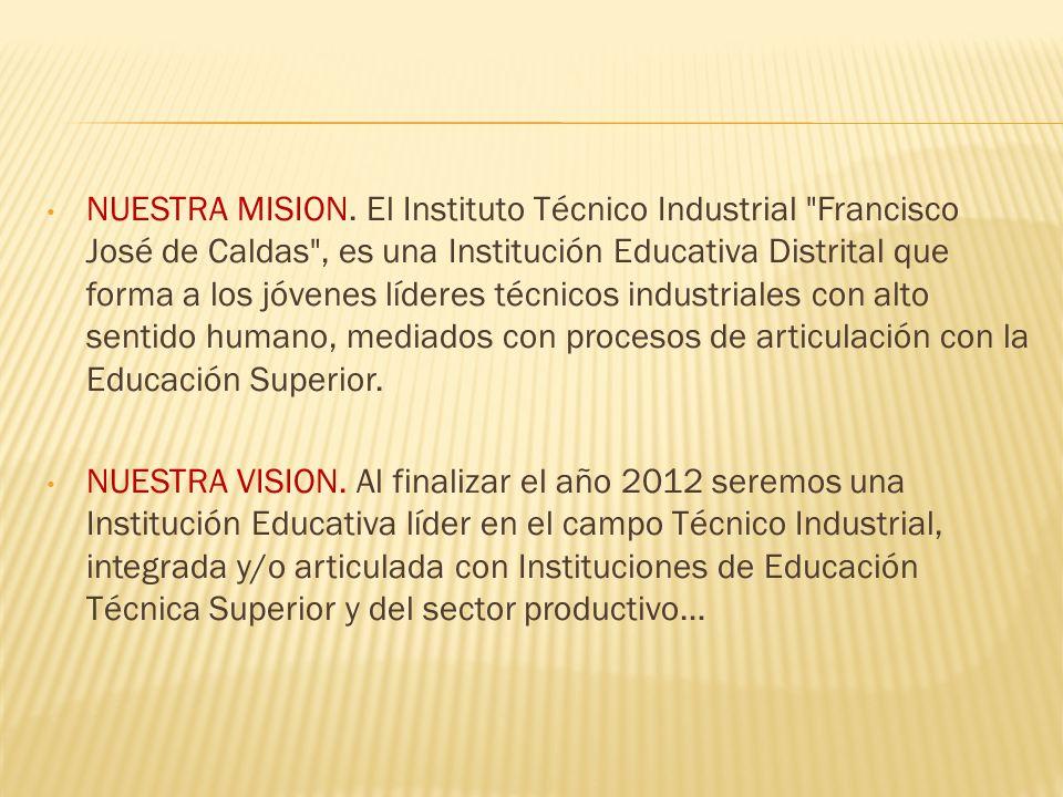 NUESTRA MISION. El Instituto Técnico Industrial