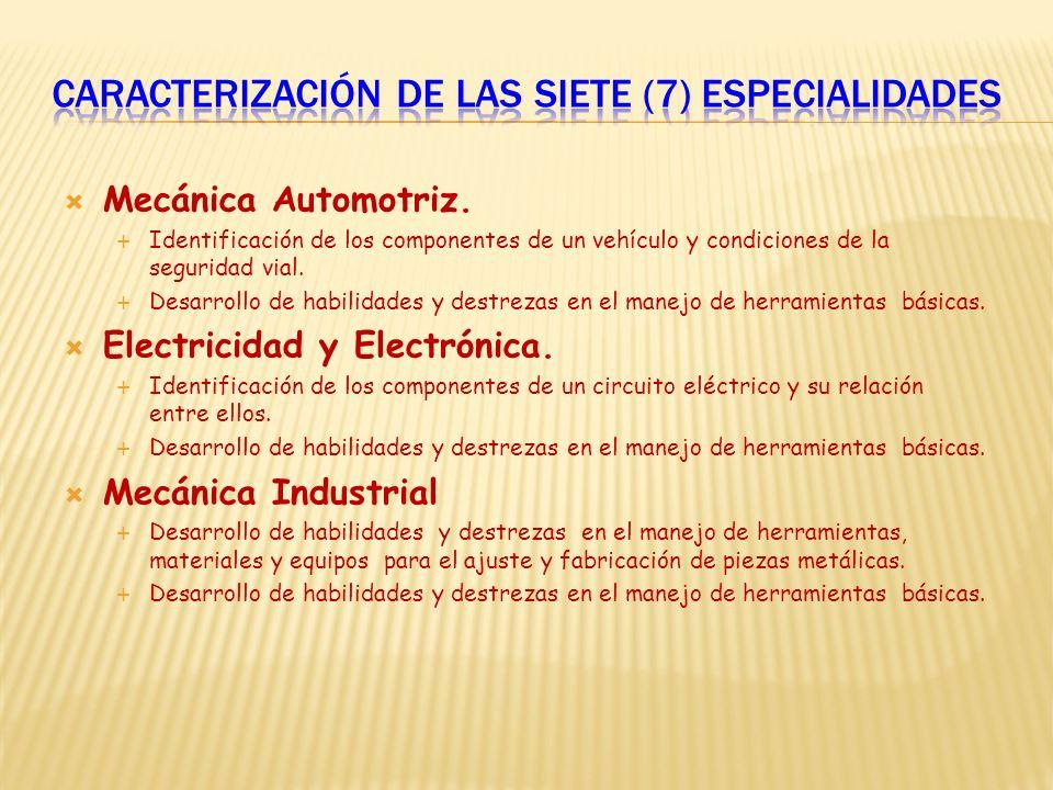 Mecánica Automotriz. Identificación de los componentes de un vehículo y condiciones de la seguridad vial. Desarrollo de habilidades y destrezas en el
