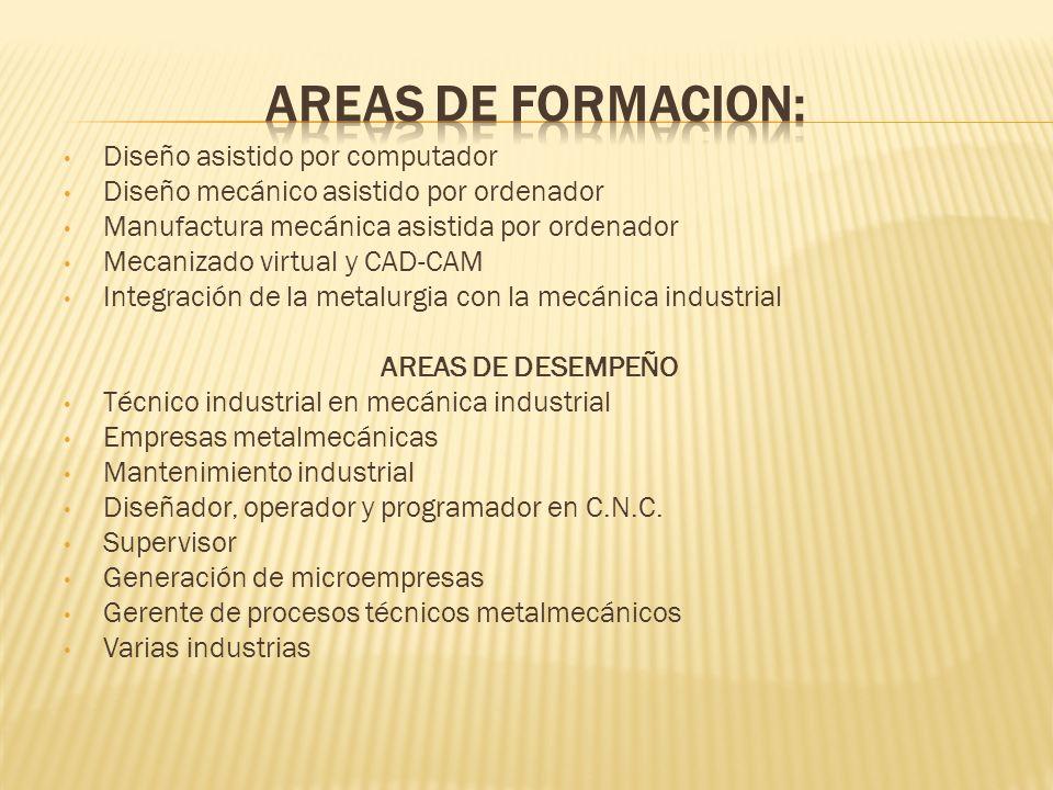 Diseño asistido por computador Diseño mecánico asistido por ordenador Manufactura mecánica asistida por ordenador Mecanizado virtual y CAD-CAM Integra