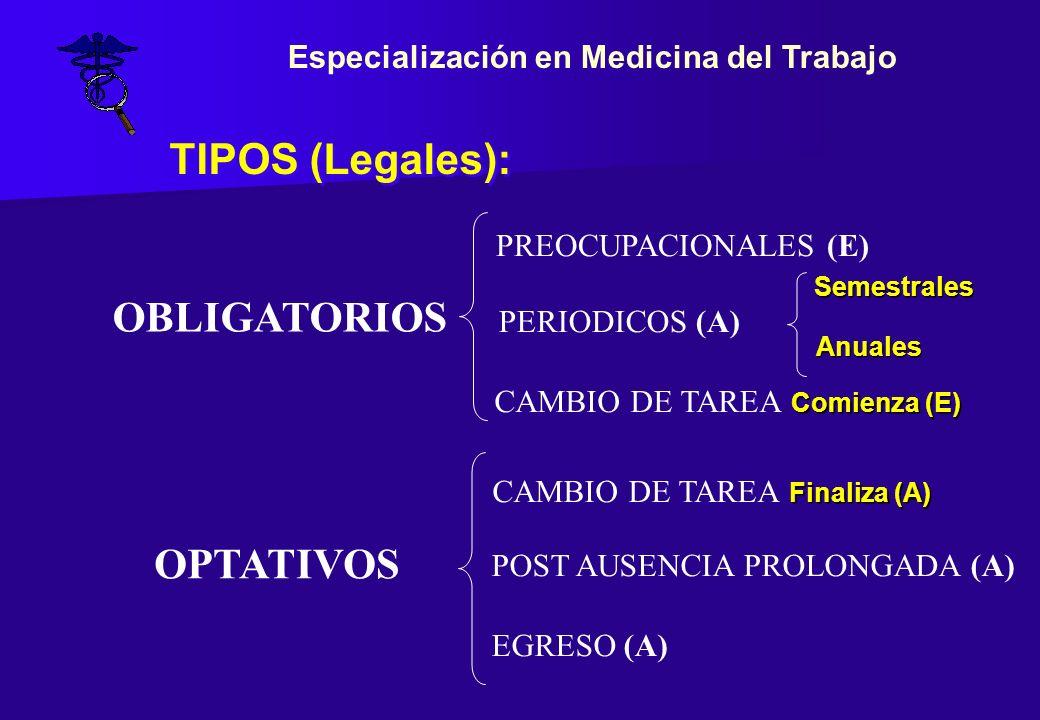 EXAMEN PREOCUPACIONAL (Resolución 43/97 art.