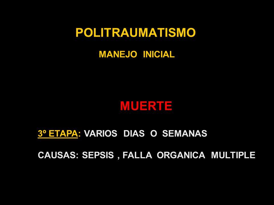 POLITRAUMATISMO MANEJO INICIAL HISTORIA MEDICA AMPLIA A- ALERGIAS M- MEDICACION HABITUAL P- PATOLOGIAS PREVIAS Li- LIBACIONES y COMIDAS DE LAS ULTIMAS Hs.
