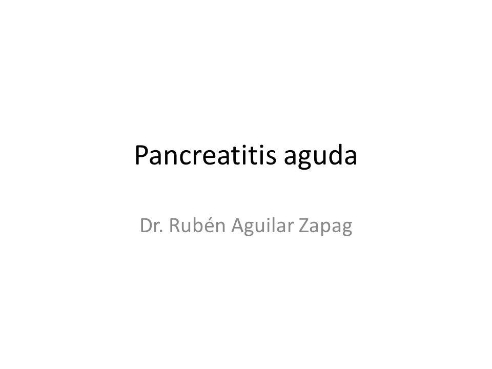 Pancreatitis aguda Laboratorio: – HTO elevado o baja, leucocitosis – Perfil hepatico normal o puede haber alteración de las enzimas hepáticas (GPT, GOT) y de la bilirrubina.