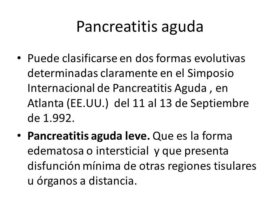 Pancreatitis aguda Pancreatitis aguda grave.