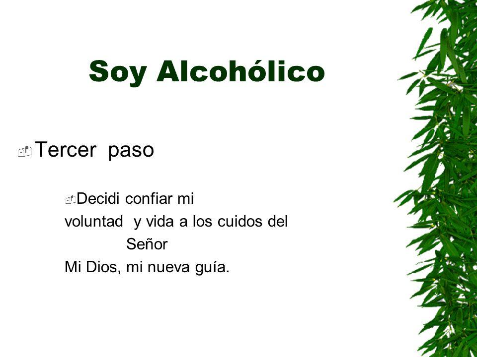 Soy Alcohólico Tercer paso Decidi confiar mi voluntad y vida a los cuidos del Señor Mi Dios, mi nueva guía.