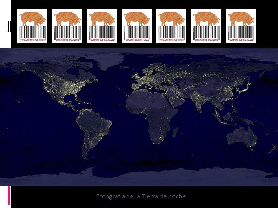 Fotografía de la Tierra de noche
