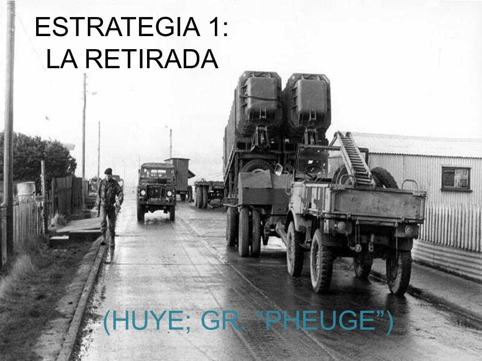 ESTRATEGIA 1: LA RETIRADA (HUYE; GR. PHEUGE)