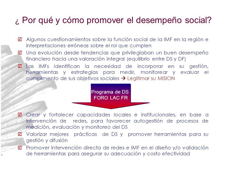 ¿ Por qué y cómo promover el desempeño social? Algunos cuestionamientos sobre la función social de la IMF en la región e interpretaciones erróneas sob