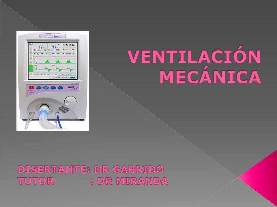 Criterios respiratorios: Fr < 38 Vt > 4ml/kg (>325 ml) V min <15 l/min Sat O 2 > 90% Pa O 2 > 75 mmHg Pa CO 2 < 50 mmHg Fi O 2 < 60% P ins max < -15 cmH 2 O