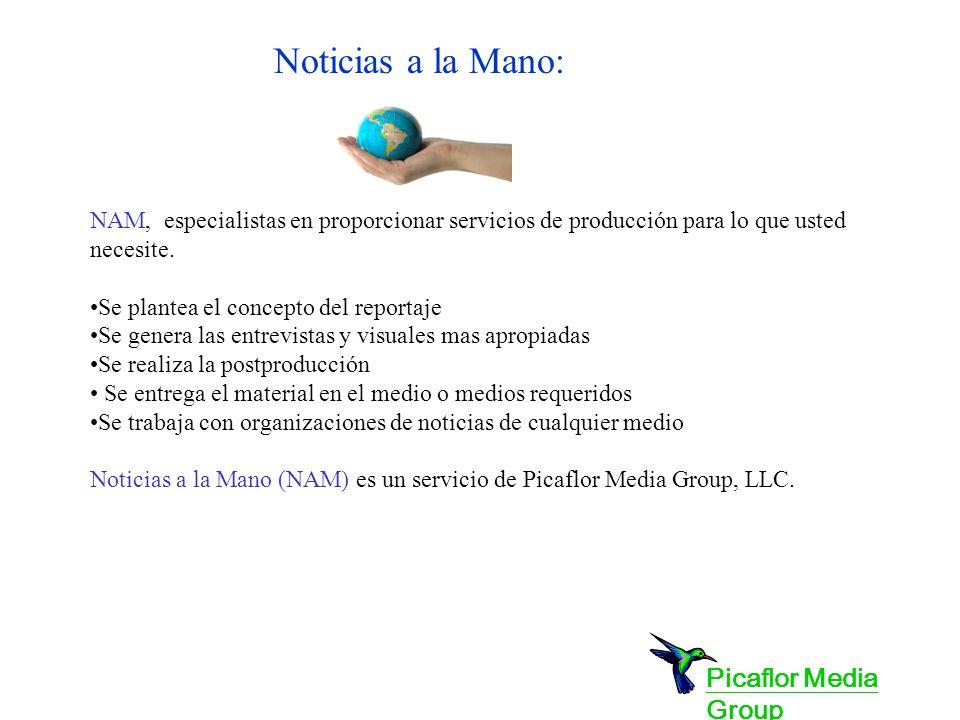 NAM, especialistas en proporcionar servicios de producción para lo que usted necesite.