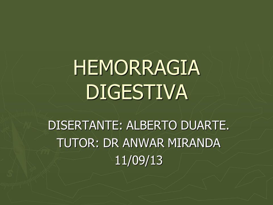 HDB Ante un sangrado digestivo bajo la actitud diagnóstica y terapéutica inicial es similar a la HDA.