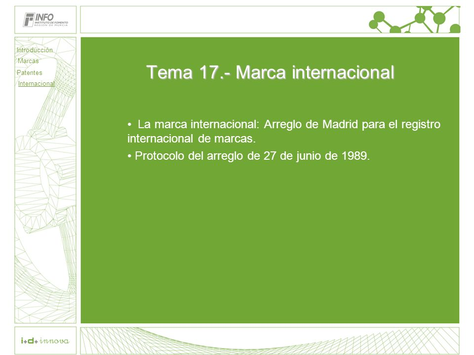 Introducción Marcas Patentes Internacional 45 Legitimación (Art.