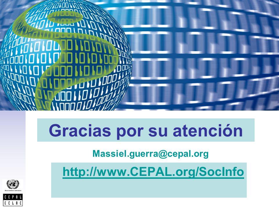 Gracias por su atención http://www.CEPAL.org/SocInfo Massiel.guerra@cepal.org