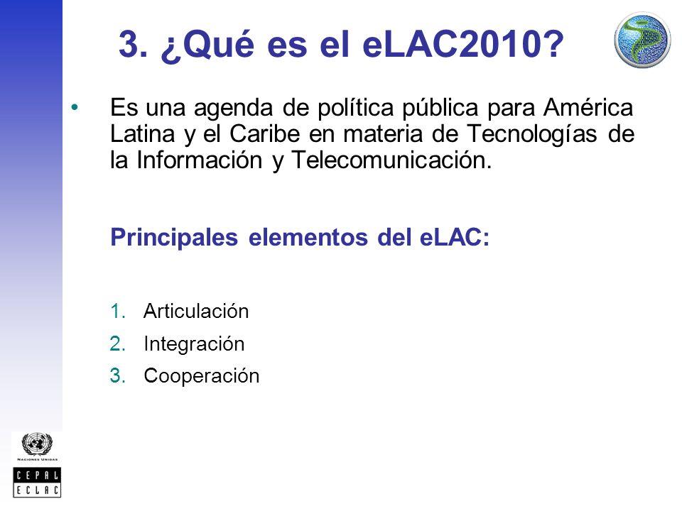 3. ¿Qué es el eLAC2010.