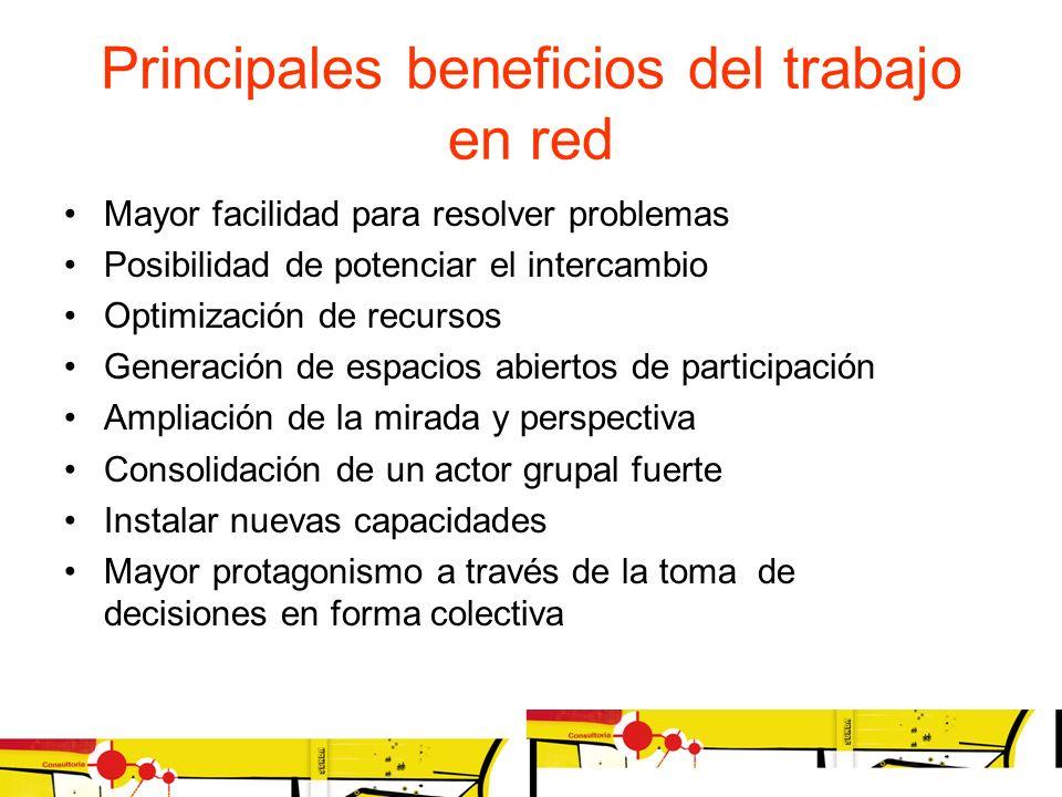 Principales beneficios del trabajo en red Mayor facilidad para resolver problemas Posibilidad de potenciar el intercambio Optimización de recursos Gen