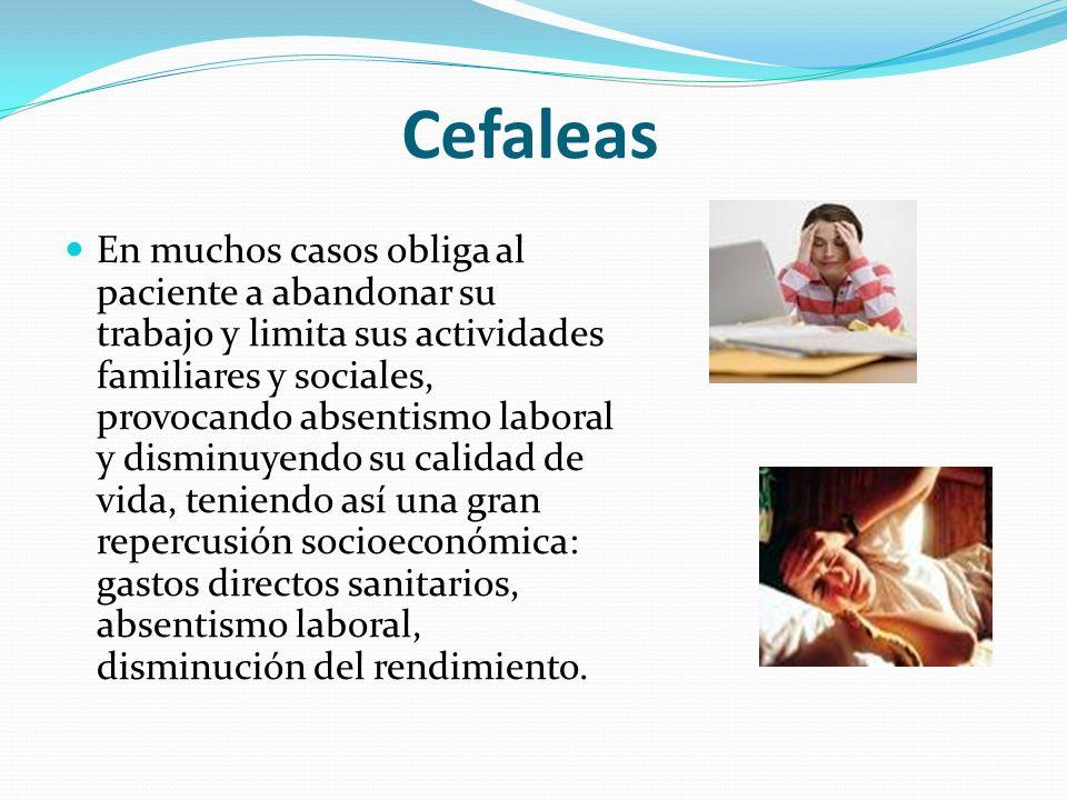 El diagnóstico de las cefaleas es Clínico La mayoría de cefaleas pueden ser tratadas y controladas por el médico de cabecera.