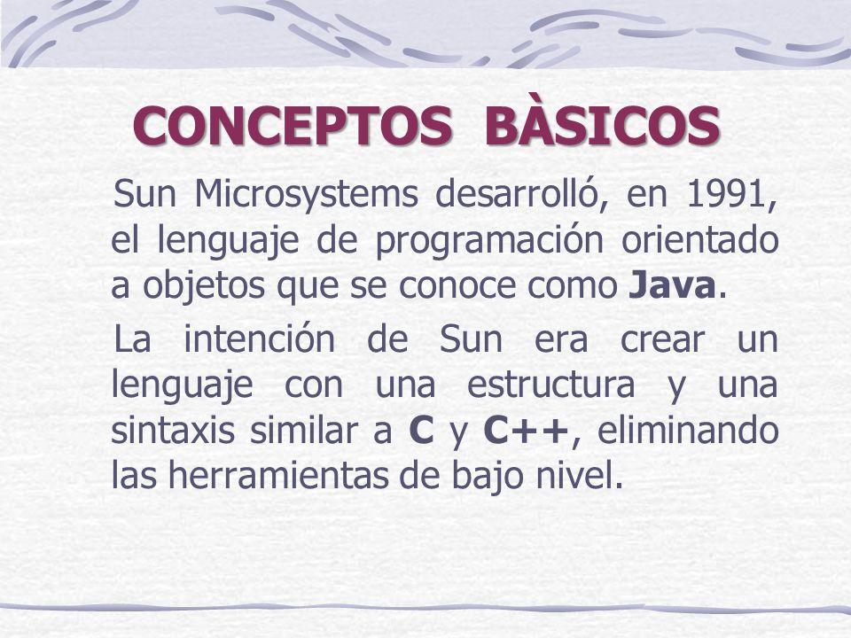 Sun Microsystems desarrolló, en 1991, el lenguaje de programación orientado a objetos que se conoce como Java.