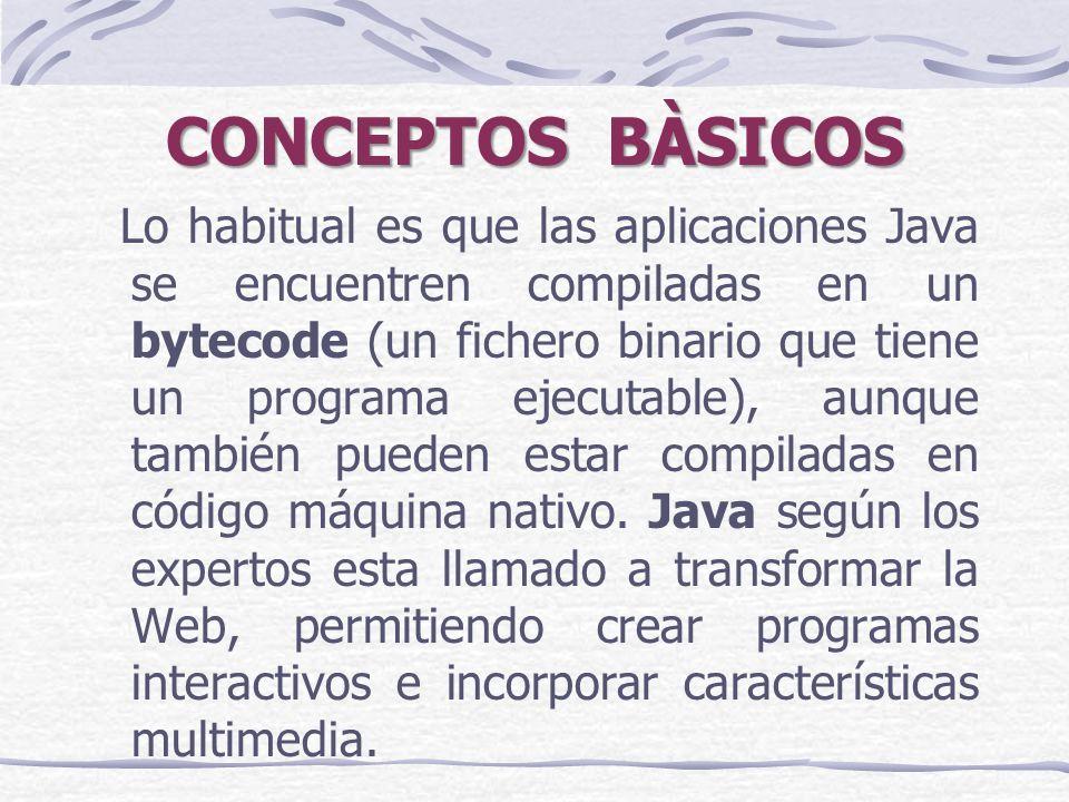 Lo habitual es que las aplicaciones Java se encuentren compiladas en un bytecode (un fichero binario que tiene un programa ejecutable), aunque también pueden estar compiladas en código máquina nativo.