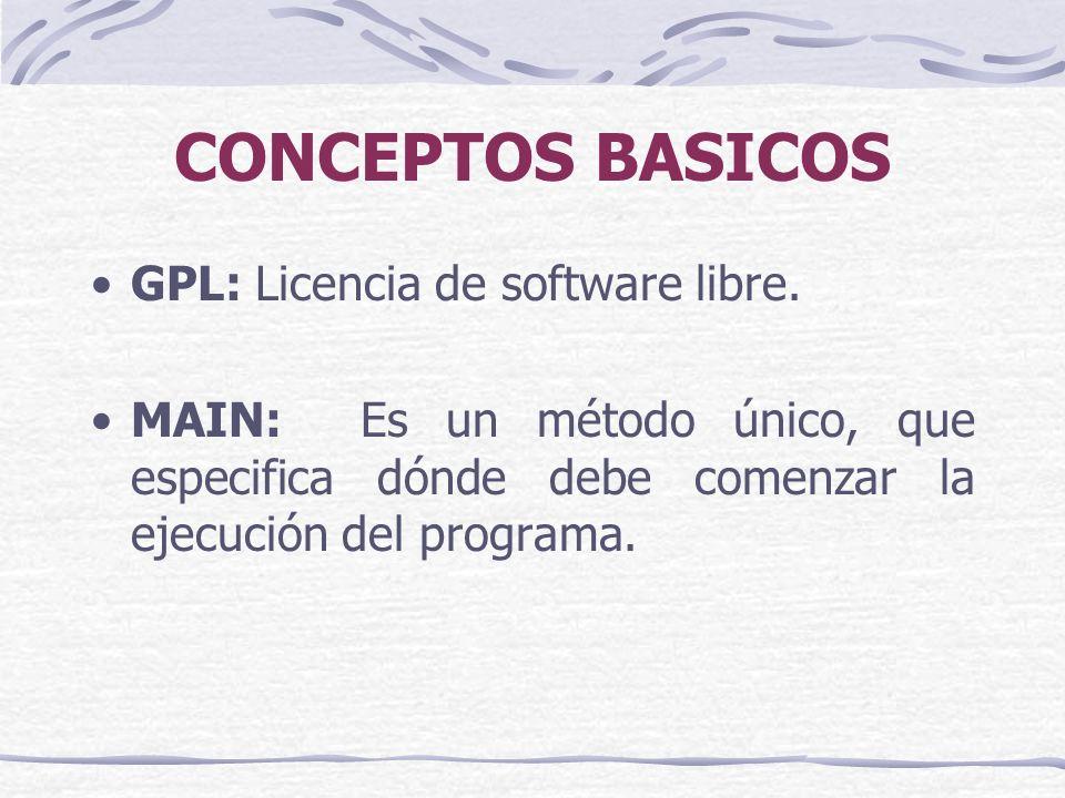 CONCEPTOS BASICOS GPL: Licencia de software libre.