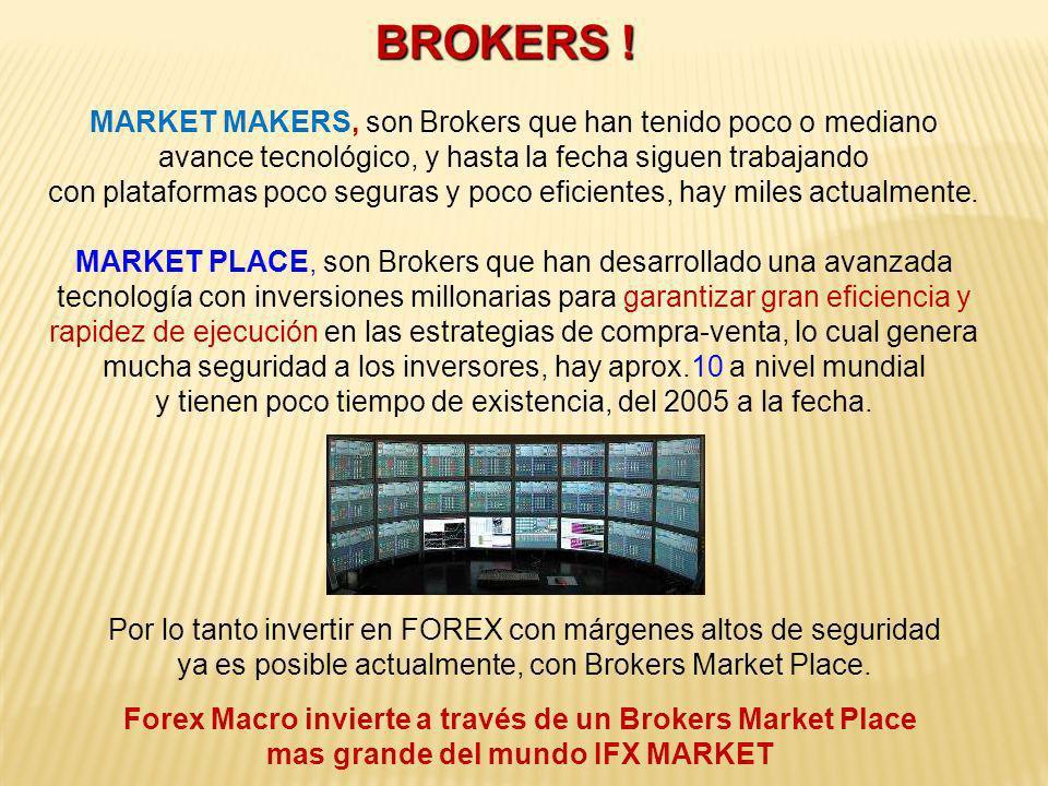 MARKET MAKERS, son Brokers que han tenido poco o mediano avance tecnológico, y hasta la fecha siguen trabajando con plataformas poco seguras y poco ef