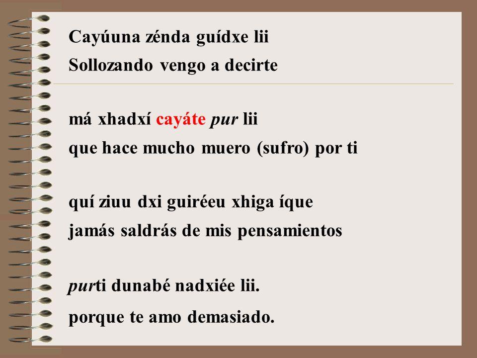Cayúuna cayáte pur lii Sollozando y muriendo por ti Autor: Eustaquio Jiménez Girón Interpreta: Tlalok Guerrero