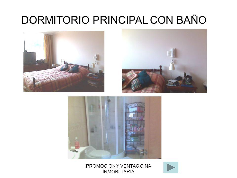 PROMOCION Y VENTAS CINA INMOBILIARIA DORMITORIO PRINCIPAL CON BAÑO